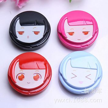 Sister Contact Lens Box Eyecon Beauty Pupil Care Kit Container for Contact Lenses Case Partner Box Wholesale Lentes de Contacto