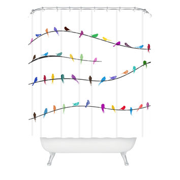 Belle13 Happy Spring Shower Curtain