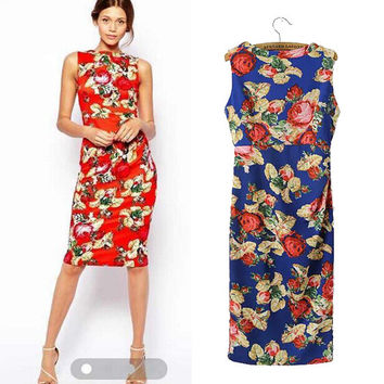 Stylish Sleeveless Vest Dress Prom Dress One Piece Dress [4919032004]