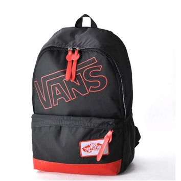 One-nice™ VANS Fluorescent yellow-green medium and small schoolbag youth boy and girl backpack cute leisure sports bag