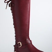 Lace Up Back Knee Boots (Wide Width & Wide Calf)