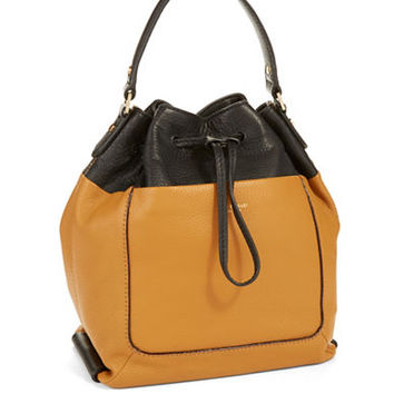 Isaac Mizrahi New York Lileth Leather Drawstring Hobo Bag