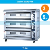 Baking Oven - Electric, 3 Decks 9 Trays, 25 Kw, TT-O84
