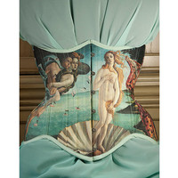 Botticelli Venus corset, Historical Birth of Venus underbust corset by RetroFolie, retro, vintage look.