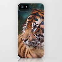 The mysterious eye of the tiger iPhone & iPod Case by Guido Montañés