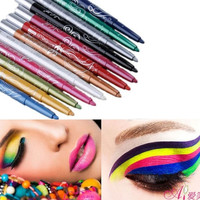 Professional Eye Shadow Lip Liner Eyeliner Pencil Makeup Set 12 Color = 1945905476