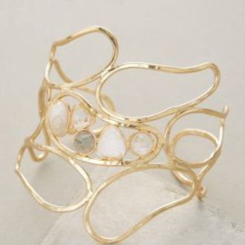 Riverstone Cuff by Anthropologie in Crackle Neutral Size: One Size Bracelets