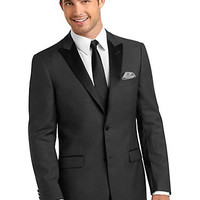 Suits - Tallia Charcoal Gray Herringbone Modern Fit Tuxedo - Men's Wearhouse