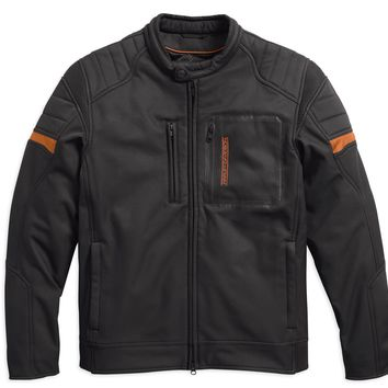 Harley-Davidson® Mens Longhorn Windproof Reflective Riding Black Functional Jacket - 97169-17VM