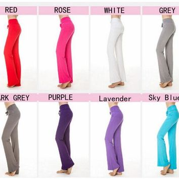 DKF4S IMC 8 colors Multicolor  Pants High Waist Stretch Women Harem Dance Club Wide Leg Loose Long Trousers Bloomers