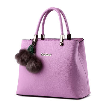 Women HandBags Fashion Women Bags 2016 Shouler Bags Casual Women PU Leather Bags Pink Black