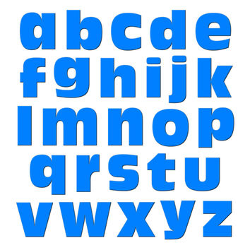 Alphabet Letters Lowercase Blue MAG-NEATO'S TM Refrigerator Magnet Set