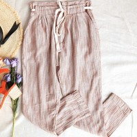 Free People Light At Sunrise Crop Pants in Beige