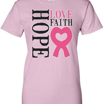 Women's Juniors T Shirt breast cancer awareness