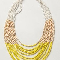 Luang Beaded Necklace by Anthropologie Yellow One Size Necklaces