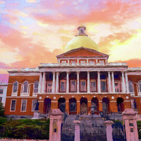 Massachusetts State House #painting #painterly #architecture by Andrea Anderegg Photography