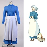 Howl's Moving Castle Sophie Dress Cosplay Costume For Women