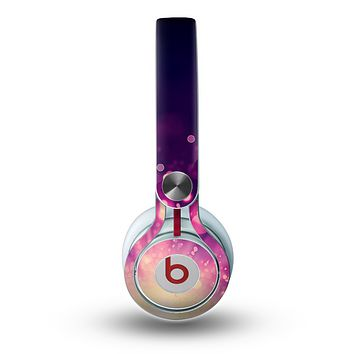 The Dark Purple with Desending Lightdrops Skin for the Beats by Dre Mixr Headphones
