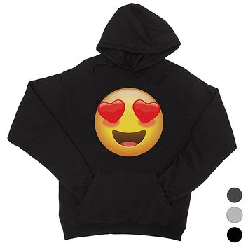 Emoji-Heart Eyes Unisex Pullover Hoodie Beautiful Perfect Gag Gift