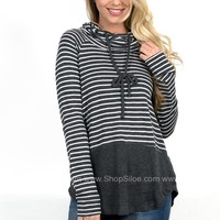 Brenna Cowl Striped Top