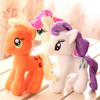 "1pcs 7"" 18cm Cute Rainbow Horse Toys Cartoon Toys Hobbies Stuffed Dolls Movie TV Stuffed Plush Animals Little Horse BaoLi"