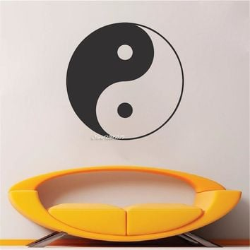 Yin Yang Symbol Wall Stickers Yoga Meditation Vinyl Decal Wall Art Mural Home Decor Decoration Wallpaper Design Poster  SA753