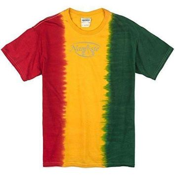 Yoga Clothing for You Mens Namaste (small print) Rasta Tie Dye Tee Shirt