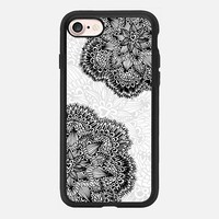 Mandala black flower iPhone 7 Carcasa by Julia Grifol Diseñadora Modas-grafica | Casetify