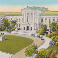 MUSEUM of Fine ARTS, BOSTON, Massachusetts, Vintage Unused Postcard, 1920s, The New England News Company