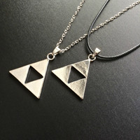 Triforce Legend of Zelda Necklace - Tri Force Gamer gift Nintendo Geekery jewelry Fandom Nerdy Necklace Zelda jewellery