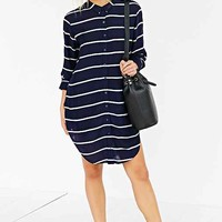 Silence + Noise Annie Silky Shirtdress-