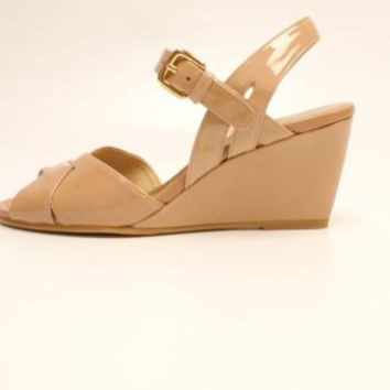 Stuart Weitzman Halley Adobe Aniline Beige Wedge Sandals Leather 6 M NIB