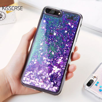 KISSCASE Glitter Quicksand Cover For iPhone 7 6 6S Plus Case Sunshine Sequin Phone Cases For iPhone 6 6S 7 5 5S SE Silicon Shell