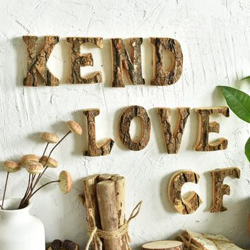 Rustic Wedding Decoration Wooden Letters