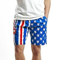 MapleClan American Flag Stars & Stripes Men's Board Shorts
