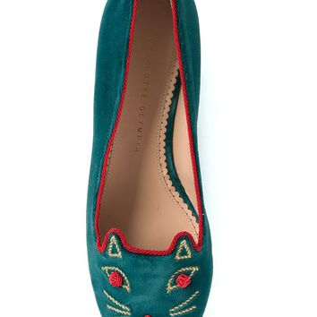 Charlotte Olympia 'Knot a Kitty' slippers