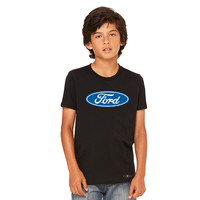 Ford Brand Logo Licensed Collective Fan Youth T-shirt Ford Tee