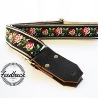 Feedback Guitar Strap- Western Style Roses
