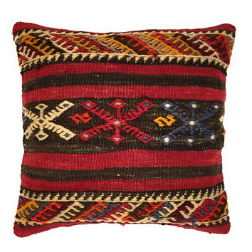 "16""x16"" Nomad Tribal Handmade Vintage Old Kilim Pillow Throw Cover"