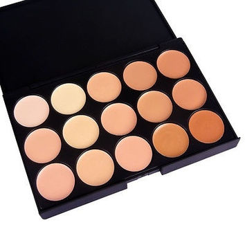15 Colors Professional Makeup Eyeshadow Camouflage Facial Concealer Neutral Palette Cream [8295206663]