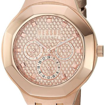 Versus by Versace Women's 'LAGUNA CITY' Quartz and Leather Casual Watch, Color:Rose Gold-Toned (Model: VSP360317)