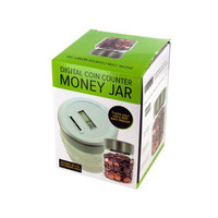 Digital Coin Counter Money Jar ( Case of 1 )