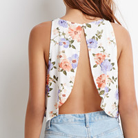 Floral Split-Back Top