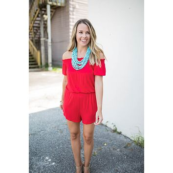 Chasing Summer Romper - Blissful Red