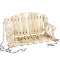 Traditional Style Porch Swing Loveseat in Natural Cedar Wood