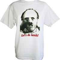 Hannibal Lecter Silence of the Lambs 'Let's do lunch!' Classic Tshirt (Large)