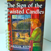 Nancy Drew ONE OF A KIND Sign of the Twisted Candles Repurposed Vintage Journal