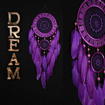 Dreamcatcher violet Dreamcatcher mosaic wall native american Large violaceous Dreamcatcher boho Indian talisman gift wall hanging boho decor
