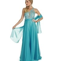 Viviana- Lt Blue Prom Dress