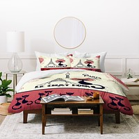Belle13 Le Chat Noir Duvet Cover
